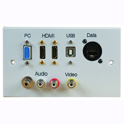 modular audio video wall plates
