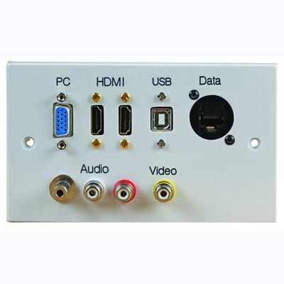 modular audio video wall plates